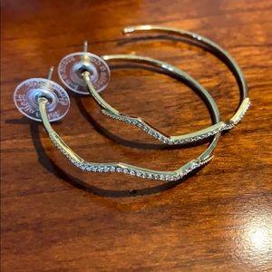 Stella & Dot lighting hoop earrings